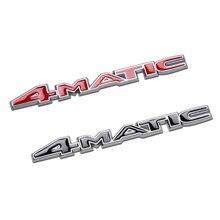 Emblema 4MATIC de alta calidad para guardabarros de coche, decoración para parachoques, pegatina para Mercedes Benz AMG W212 W108 W204 W213 C260 etc.