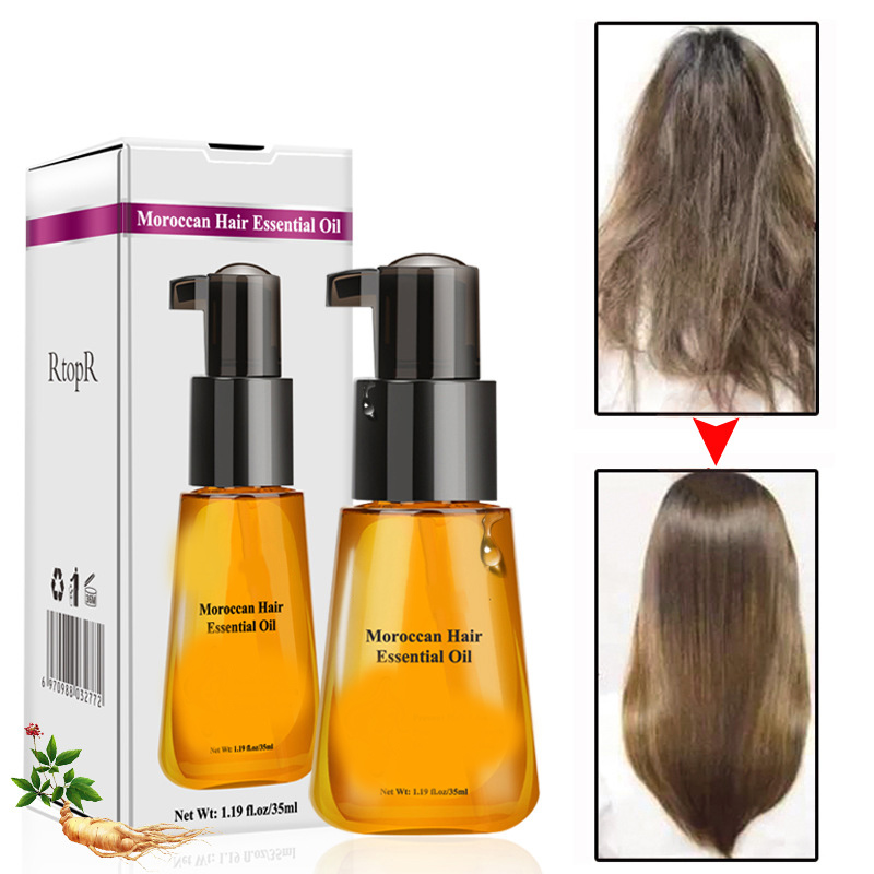 Moroccan Hair Care Essential Oil Female Repair Anti-Hairy Soft And Dry Hair Hot After Curly Care Disposable Hair Conditioner image