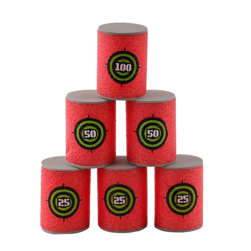 6pcs Foam Drink Bottle Bullet Training Supplies Toy Targets Shot Dart Nerf Set For N-strike Fixed Elite Games Soft Annex Toys