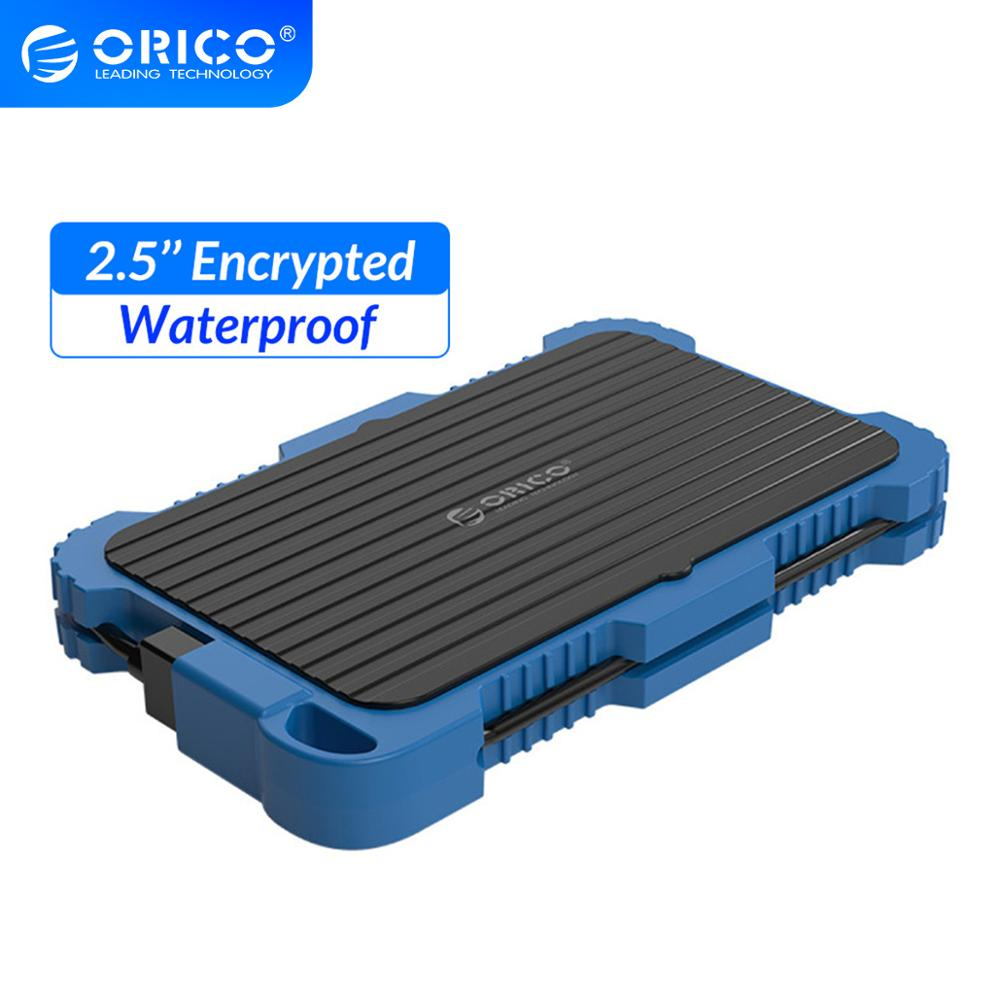 ORICO 2.5 Encrypted Hard Drive Enclosure SATA to USB 3.0 HDD Case UASP Waterproof Shockproof Dustproof Encrypted HDD Box image