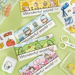 1 Набор милых канцелярских наклеек, замечательный маленький мир, дневник, планировщик, декоративные наклейки на мобильный телефон, скрапбук...