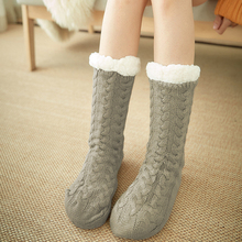 Women Socks Fluffy Non-Slip Thickened Soft Adult Winter Warm Home One-Size Lined Bed