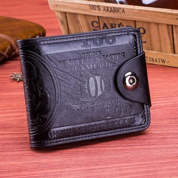 High Quality Brand Leather Men Wallet 2019 Fashion Dollar Price Wallet Casual Clutch Money Purse Bag Credit Card Holder image