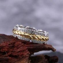 Новый Модный богемный Кристалл инкрустация Кольцо мужское кольцо