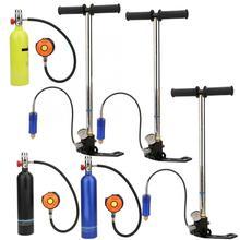 1L Tauchen Sauerstoff Zylinder mit Ventil Inflator Brille Kit Scuba Tauchen Zylinder Unterwasser Atemschutz Schnorcheln Sauerstoff Tank