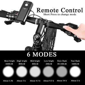 Image 4 - GACIRON אופניים אור USB נטענת אופניים קדמי פנס רכיבה על פנס IPX6 עמיד למים 5000mAh 1600 לום LED מנורת 6 מצב
