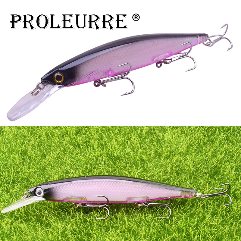 1PCS Minnow Fishing Lures Laser Plastic Fishing Wobblers 12.5cm 12.5g Artificial Hard Bait 3D Eyes Bass Baits Crankbait Pesca
