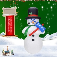 New 1.8M Giant Inflatable Jitter Snowman Blows Up Fancy Toys Santa Claus Christmas Festive Event Stage Props Gifts Party Décor