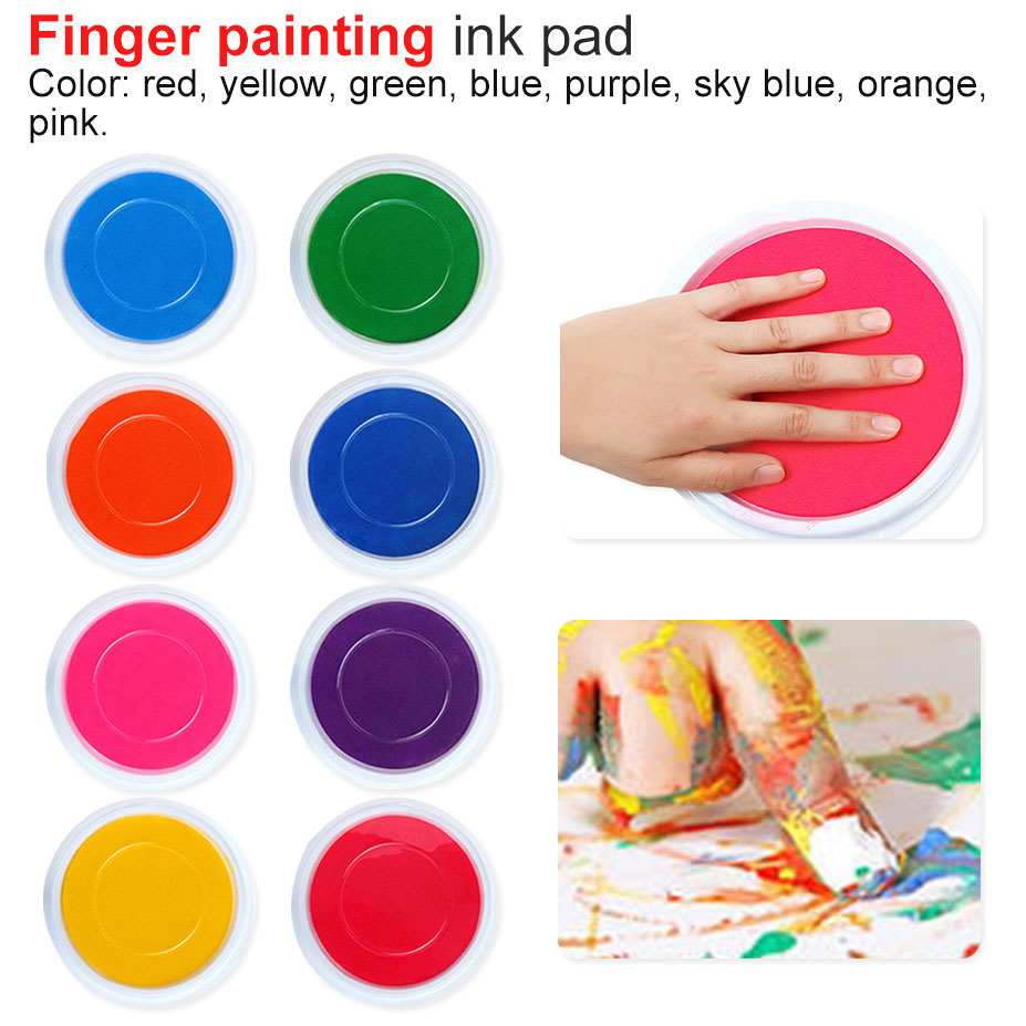 DIY Finger Painting Drawing Toy Colored Craft Ink Pad Inkpad Colors Stamps Toy Graffiti Paint Toys Non-toxic