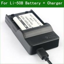 LI-50B LI50B цифровой Камера Батарея + Зарядное устройство для цифровой камеры Olympus TG-620 TG-630 TG-805 TG-810 TG-820 TG-830 TG-850 TG-860 TG-870 VG-190