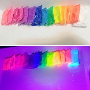 Image 1 - 20 г неоновая пудра флуоресцентный пигмент лак для ногтей фосфорный порошковый флуоресцентный, не светящийся в темноте порошок для макияжа DIY мыло