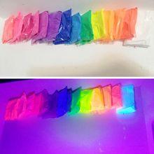 Poudre de phosphore de scintillement dongle de Pigment de Fluorescence de poudre de néon de 20g fluorescente, pas rougeoyante dans la poudre foncée pour le savon de bricolage de maquillage