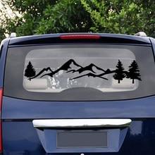Autocollant étanche pour voiture tout-terrain, 100cm, décor de voiture, arbre, montagne, animal de compagnie, pour SUV, RV, camping-Car, à la mode, nouvelle collection