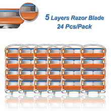 Replacement-Heads Shaving-Razor-Blades Fit-Gillette Stainless-Steel Straight Fusion-5