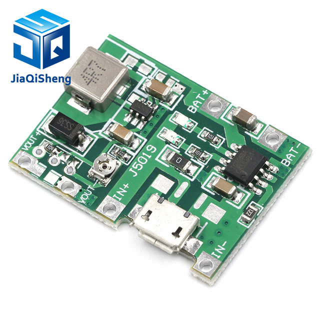 Lithium Li-ion 18650 3.7V 4.2V Battery Charger Board DC-DC Step Up Boost Module Integrated Circuits 2
