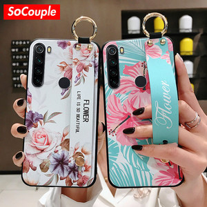 SoCouple Wrist Strap Case For Redmi Note 8 Pro 5 6 7Pro K20 Pro K30 Case For Xiaomi 8 9 CC9 A3 9 Lite 9t TPU Phone Holder Case(China)