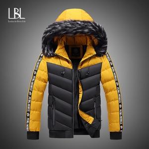 2020 Winter Coat Men New Casual Thick Warm Waterproof Fur Hooded Parkas Jacket Men Autumn Outwear Coat Outfit Parkas Jackets Men