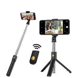 Üreticileri doğrudan satış yeni stil K07 Bluetooth Selfie sopa uzaktan kumanda High-End Tripod evrensel el feneri canlı fotoğraf