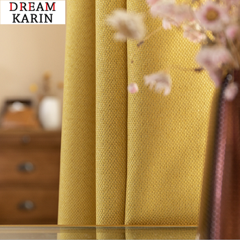 Modern Blackout Curtains For Living Room Bedroom Yellow Curtains for Window Curtains Drapes Treatment Finished Blinds Custom modern blackout curtains for living room bedroom yellow curtains for window curtains drapes treatment finished blinds custom