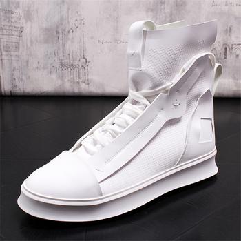 Męskie buty w stylu casual mężczyzn skórzane buty moda oddychające męskie trampki męskie buty moda buty za kostkę oryginalne skórzane buty męskie tanie i dobre opinie Ktip up Gumowe Dla dorosłych Stałe Wiosna jesień Skóra bydlęca Oddychająca Prawdziwej skóry Świńskiej Przypadkowi buty