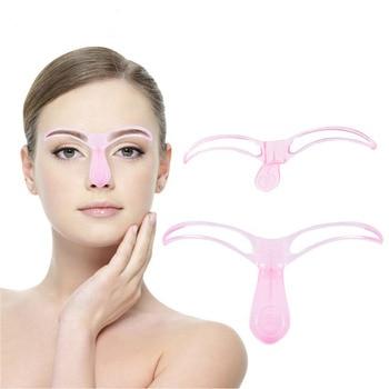 1Pcs Eyebrow Stencils Template DIY Eye Brow Grooming Shaping Eyebrow Shaper Ruler Beauty Woman Makeup Tool Random Color