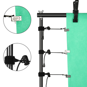 Image 3 - Photo Background Backdrop Support System Kit with Clamp,Carry Bag For Photo Studio Youtube  Photography Backdrops