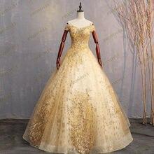 Желтые элегантные вечерние платья размера плюс с глубоким круглым