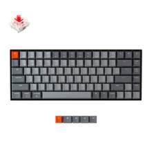 Keychron K2 A V2 klawiatura mechaniczna Bluetooth w/ Gateron czerwony przełącznik/biały podświetlany diodami LED 84 klawiatura bezprzewodowa klawiatura dla Mac Windows
