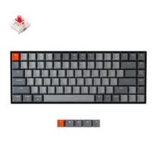 Keychron K2 A V2 블루투스 기계식 키보드 (Gateron 포함) 빨간색 스위치/흰색 LED 백라이트 84 키 무선 키보드 (Mac Windows 용)