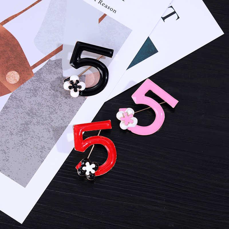 Número de alta qualidade flor casamento noiva broches moda flores 5 gotas vermelhas óleo festa mulher foco corsage luxuoso broche