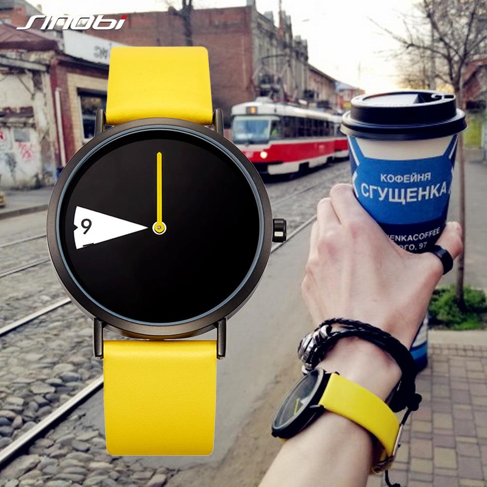 Sinobi Women Watch Clock Band Rotate Yellow Mujer Femme Lady Montres Creative Reloj