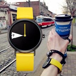 Sinobi Hot Women Watch Creative Wristwatch Lady Clock Rotate Yellow Leather Band Wristwatches Clock Montres Femme Reloj Mujer