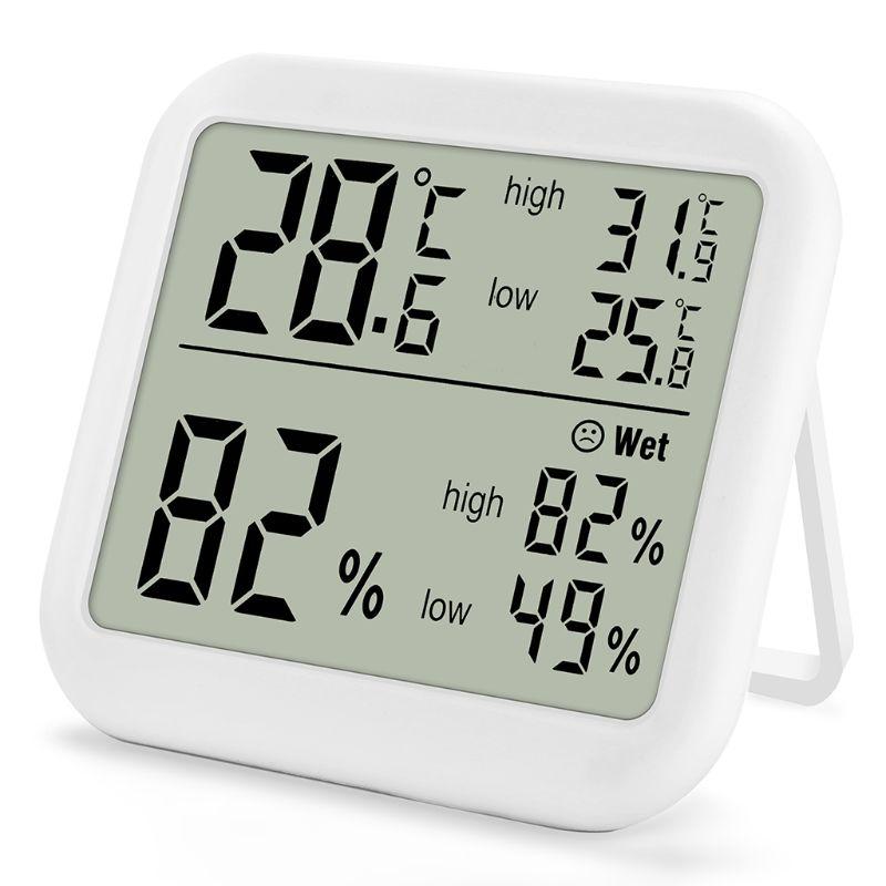 Цифровой термометр-гигрометр, измеритель температуры и влажности для домашних теплиц