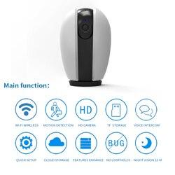 HD 1080P chmura bezprzewodowa kamera bezpieczeństwa do monitoringu IP inteligentna kamera do nadzoru domowego CCTV Network inteligentne wifi Mini kamera w Kamery nadzoru od Bezpieczeństwo i ochrona na