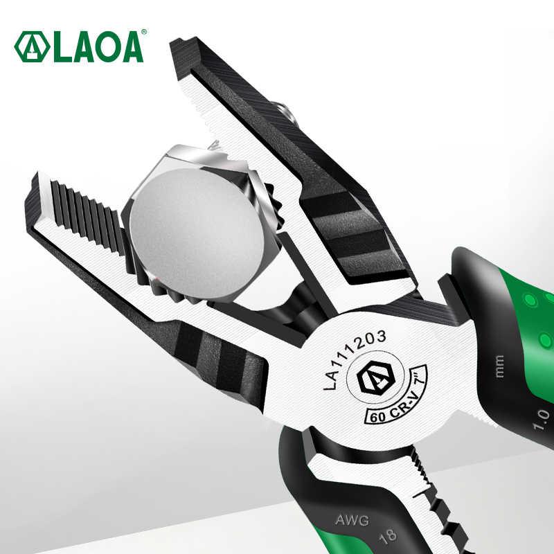 Laoa 7 Inch Multifunctionele Diagonale Tang Wire Cutter Langbektang Side Cutter Kabel Scharen Elektricien Professionele Tools