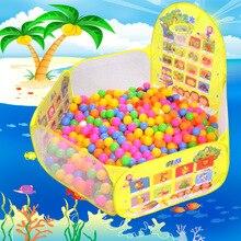 Цветной забор для бассейна с шариками океанов, Складывающийся игровой домик для младенцев, Детская игровая игрушка для игры в бассейн с волнистым мячом