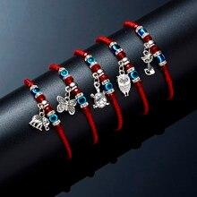Lucky Eye Blue Evil Eye Charms Bracelet Red String Thread Rope Couple Bracelet For Women Men Wish Jewelry Good Gift Adjustable