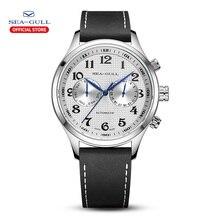 갈매기 남자 시계 비즈니스 캐주얼 방수 벨트 남자 다기능 자동 기계 시계 6063 마스터 시리즈