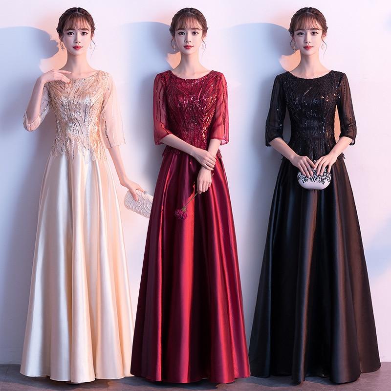 2020 Vestido Cocktail Vestido De Noiva Chorus Costume Women's Long Spring Stage Performance Conductor Temperament Slim Dress