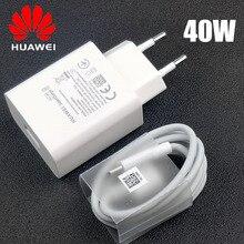 Original EU Huawei P30 Pro chargeur rapide 40W suralimentation charge rapide 5A USB type C câble pour P20 Mate 30x20 Nova 4 5 5t