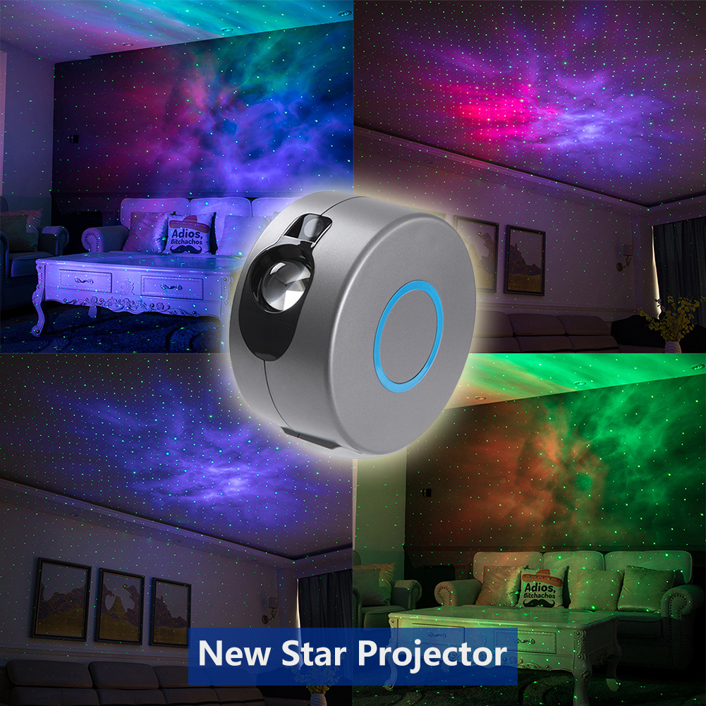 Starry Star Sky Projector EU Plug Colorful Night Light For Family Birthday Party Kids Adults Bedroom Dec Christmas Gift