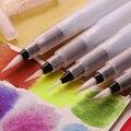 3 шт Пластиковые S/M/L Акварельная Кисть ручка каллиграфия краска многоразового использования чернильная ручка художественная краска маркер...