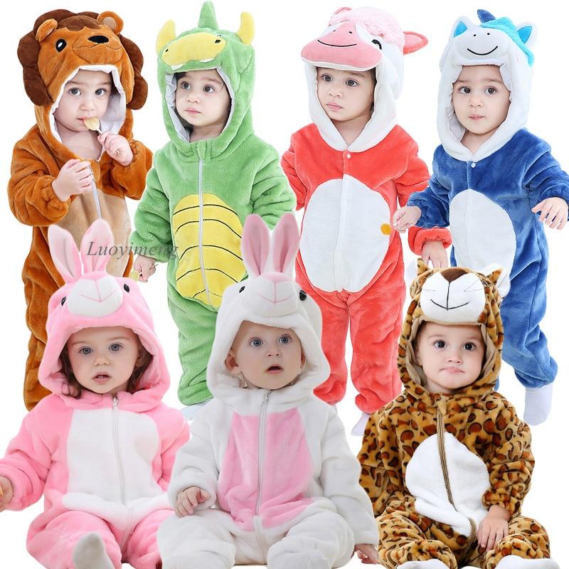 Baby Rompers New Born Baby Lion Costume Jumpsuit Infant Onesie Cosplay Clothes Winter Stich Pajamas Roupas De Bebe Recem Nascido