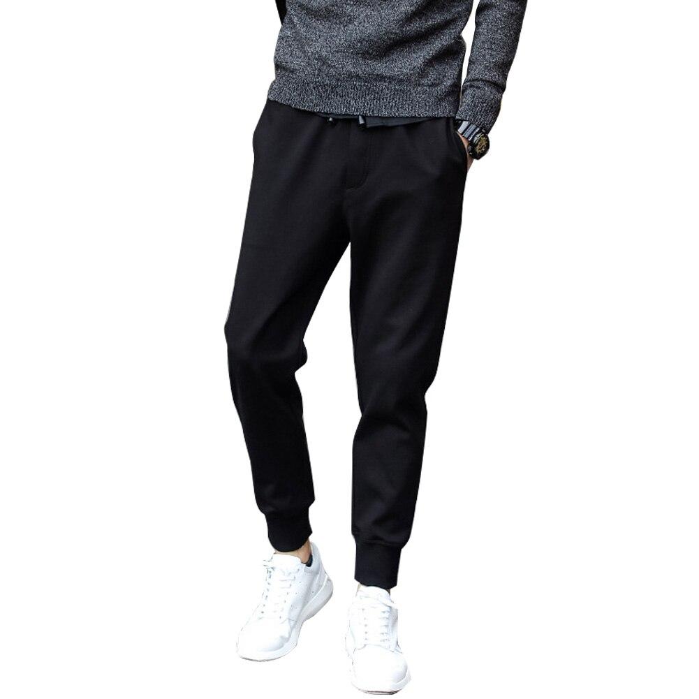 Summer Men Casual Harem Pants Black Jogger Fitness Loose Long Pants Comfortable Drawstring Trousers M