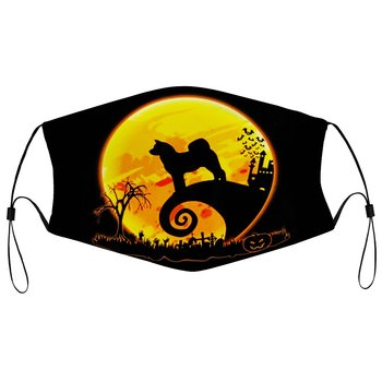 Fashion Dust Mask Akita Inu And Moon Dust Mask Men Soft Cotton Leisure Face Mask Dog Lover Gift Face Mask Merch K002730
