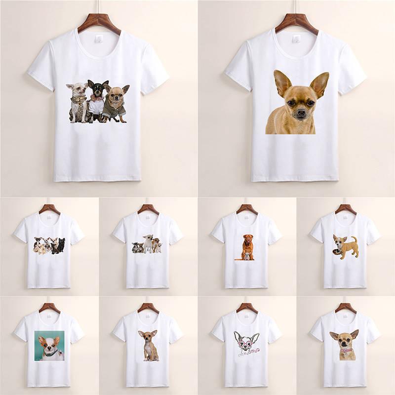 New Fashion Summer T-shirt Lovely Dog Chihuahua Harajuku Short Sleeve O-neck Casual Lovely Tees Cool Top TX34