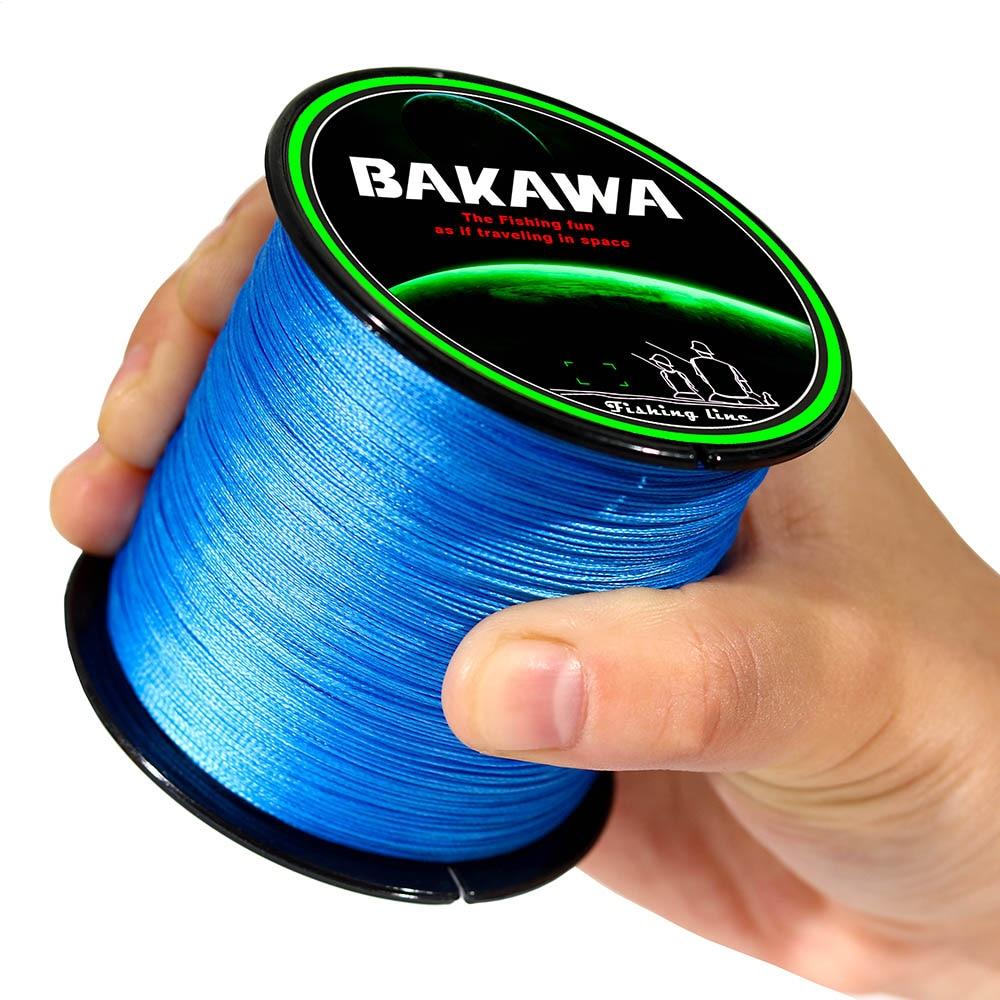 BAKAWA 100M 150M 200M 300M 500M 8 hilos trenzados sedal multifilamento Super fuerte Alambre de pesca Japón Multicolor 100% PE