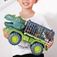 Coche de juguete de dinosaurios para niños, coche de transporte, camión transportador, vehículo de tracción, juguete con regalo de dinosaurio