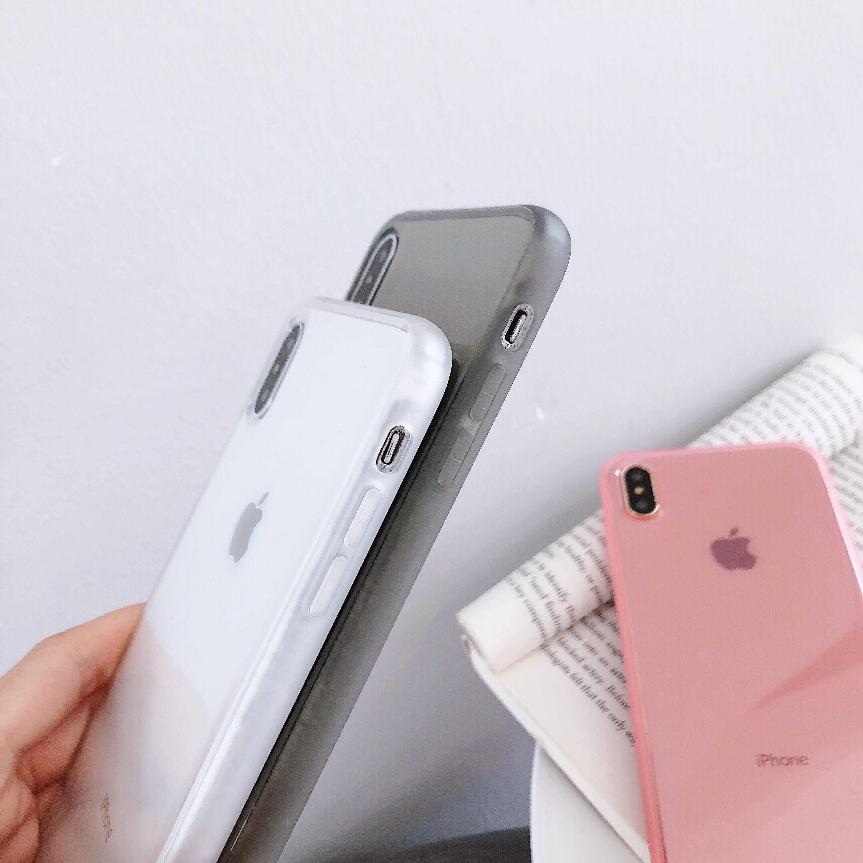 KISSCASE الملونة شفافة للصدمات إطار الهاتف حقيبة لهاتف أي فون 11 برو XS X XR XS ماكس 8 7 6S زائد لينة TPU غطاء للحماية