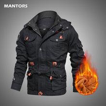 Vestes militaires décontractées pour hommes, manteaux d'hiver, coupe-vent chaud en coton, vestes bombardier multi-poches, vêtements d'extérieur pour hommes, 2020